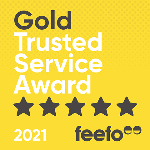 Feefo Gold Trusted Service Awards Winner 2021